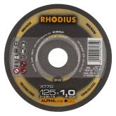 Rhodius XT70 doorslijpschijf 125 x 1,0 mm