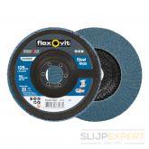 Flexovitvlaklamelschijf conisch Speedoflex 125x22 R822 P80