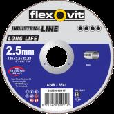 Flexovitdoorslijpschijfvlak LongLifeinox A24V 125x2,5x22,23 T41